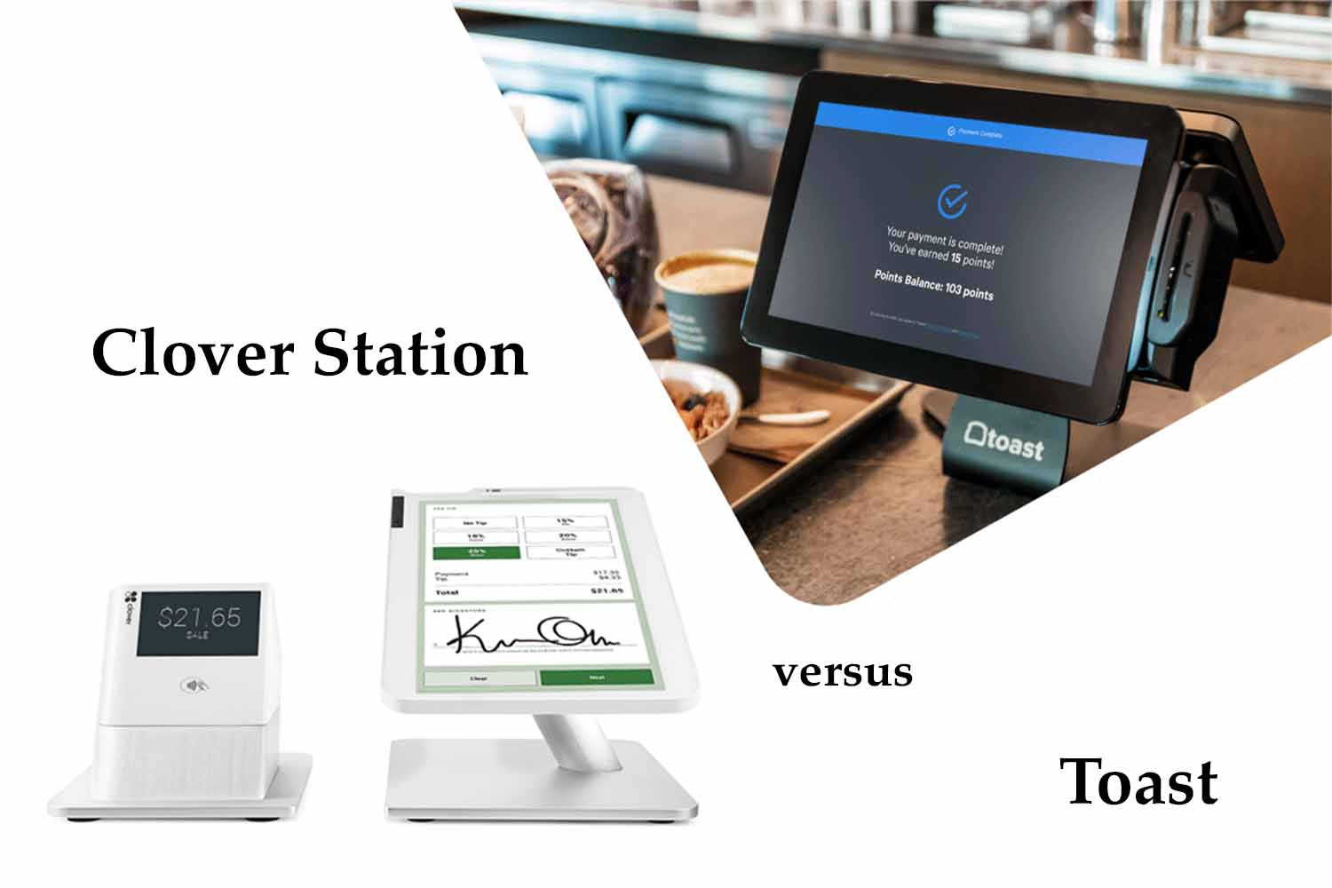pic of the clover station versus the toast pos